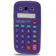 Capa Personalizada Retro Calculadora para Samsung Galaxy S3 S III i9300 - Roxo