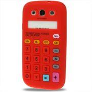 Capa Personalizada Retro Calculadora para Samsung Galaxy S3 S III i9300 - Vermelha
