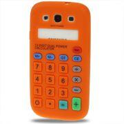 Capa Personalizada Retro Calculadora para Samsung Galaxy S3 S III i9300 - Laranja