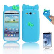 Capa Personalizada Hello Kitty para Samsung Galaxy S3 S III i9300 - Azul