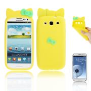 Capa Personalizada Hello Kitty para Samsung Galaxy S3 S III i9300 - Amarelo