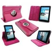 Capa em couro com suporte 360º para Samsung Galaxy Tab 2 7.0 P3100 / P3110 - Cor Rosa