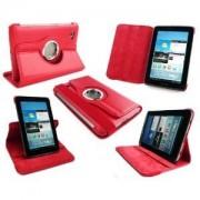 Capa em couro com suporte 360º para Samsung Galaxy Tab 2 7.0 P3100 / P3110 - Cor Vermelha
