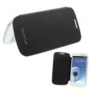 Capa em couro flip para Samsung Galaxy S III GT-I9300 - Preto