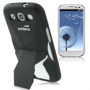 Capa Protetora com Suporte para Samsung Galaxy S3 S III i9300 - Preto