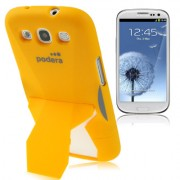 Capa Protetora com Suporte para Samsung Galaxy S3 S III i9300 - Laranja