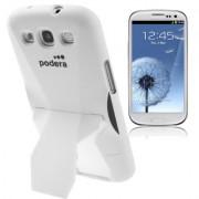 Capa Protetora com Suporte para Samsung Galaxy S3 S III i9300 - Branco