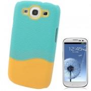 Capa Protetora para Samsung Galaxy S3 S III i9300 - Verde/Laranja