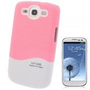 Capa Protetora para Samsung Galaxy S3 S III i9300 - Rosa/Branco