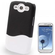 Capa Protetora para Samsung Galaxy S3 S III i9300 - Preto/Branco