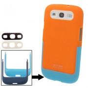 Capa Protetora multicolor para Samsung Galaxy S3 S III i9300 - Laranja