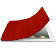 Capa Smart Cover Dual 2x1 para Apple iPad 3 / iPad 4 - Cor Vermelha