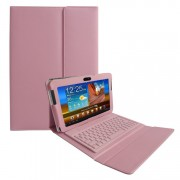 Capa em Couro com Teclado sem fio Bluetooth para Samsung Galaxy Tab 2 10.1 P5110 /P5100 - Rosa