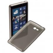 Kit Capa de TPU Premium + Película fosca anti-reflexo para Nokia Lumia 820 - Cor Grafite