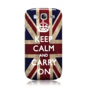 Capa personalizada Keep Calm and Carry Inglaterra para Samsung Galaxy Grand Duos I9082