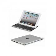 Capa portátil com teclado em alumínio Bluetooth para IPad 3 - Cor Preto/Prata
