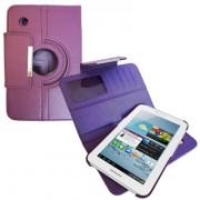 Capa em couro com suporte 360º para Samsung Galaxy Tab 2 7.0 P3100 / P3110 - Cor Roxa