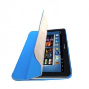 Capa em couro para Samsung Galaxy Note 10.1 N8000 com suporte 360º - Cor Azul