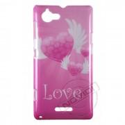 Capa Personalizada Corações Love para Sony Xperia L
