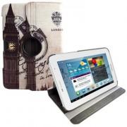 Capa para tablet personalizada Bandeira UK giratoria Samsung Galaxy Note 10.1 N8000