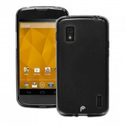 Kit Capa de TPU Premium + Película transparente  para LG Nexus 4 - Cor Grafite