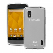 Capa de TPU Premium para LG Nexus 4 - Cor Transparente