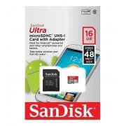Cartão de Memória Sandisk Micro SD 16GB Classe 10 com Adaptador