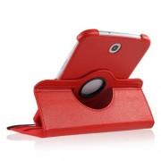 Capa em couro com suporte 360º para Samsung Galaxy Note 8.0 N5100/N5110 - Cor Vermelha