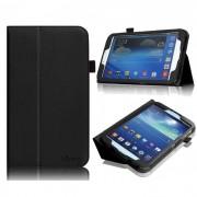 Capa couro Smart Cover para Samsung Galaxy Tab 3 8.0 T3110 - Cor Preta