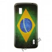 Capa Personalizada Bandeira do Brasil Envelhecida para LG Nexus 4 E960