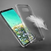 Capa Anti Impacto TPU Slim para Samsung  S8 Plus - Cor grafite
