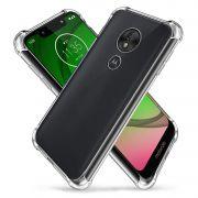 Capa Fusion Shell + Película de vidro 3D Motorola Moto G7 Play - Preta