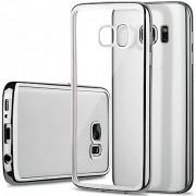 Capa TPU para Samsung Galaxy S7 Edge Galvanizado Transparente