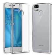 Kit Capa TPU Transparente e 2 Película Silicone/Gel Blindada para Asus Zenfone 3 Zoom Ze553KL