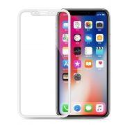 Película De Vidro 3d Apple Iphone X - Borda Branca (cobre Toda A Tela)