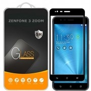 Película de vidro Premium com bordas 3D para Asus Zenfone 3 Zoom  / Zenfone 3 Zoom - Borda Preta