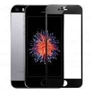 Película de vidro Premium com bordas 3D para iPhone SE/5s/5c/5 - Bordas Preta