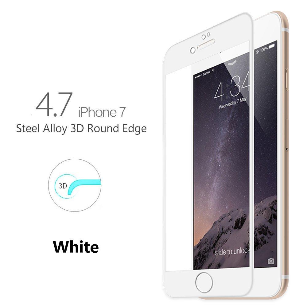 5e74f57f37d Película de vidro Premium com bordas 3D para Apple iPhone iPhone 7 (4.7) -  Bordas Brancas