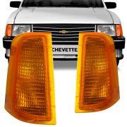 Lanterna Dianteira Pisca Gm Chevette Marajó Chevy 1983 a 1993 Âmbar Lado Esquerdo 88093