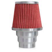Filtro de Ar Esportivo Rs Air Filter Duplo Fluxo Multi 60mm Vermelho
