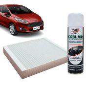 Filtro do Ar Condicionado Cabine Ford Ecosport Fiesta Ka New Fiesta 2011 em diante + Higienizador