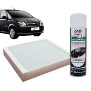 Filtro do Ar Condicionado Cabine GM Meriva 2002 em diante + Higienizador