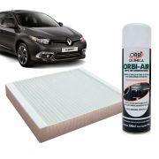 Filtro do Ar Condicionado Cabine Renault Fluence 2011 em diante + Higienizador