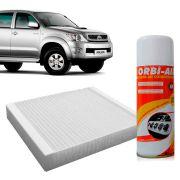 Filtro do Ar Condicionado Cabine Toyota Corolla Etios Hilux Rav 4 2005 em diante + Higienizador