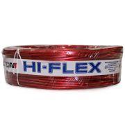 Fio Flexível para Sonorização Profissional de Alta Potência Dni Hi-Flex 4 mm 50 Metros Cristal Vermelho