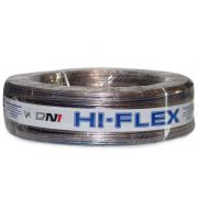Cabo Paralelo para Instalação Automotiva Dni Hi-Flex 2x0,75 mm 100 Metros Cristal Laranja