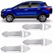 Jogo Aplique Cromado para Maçaneta Ford Ecosport New Fiesta 4 Portas 2013 a 2015