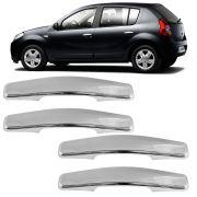 Jogo Aplique Cromado para Maçaneta Renault Sandero Symbol 4 Portas 2007 a 2013