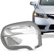 Aplique Cromado para Retrovisor Honda Civic 2007 a 2011 Lado Direito