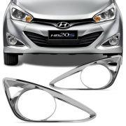 Kit Moldura Cromada do Farol de Milha Hyundai Hb20 2012 a 2015